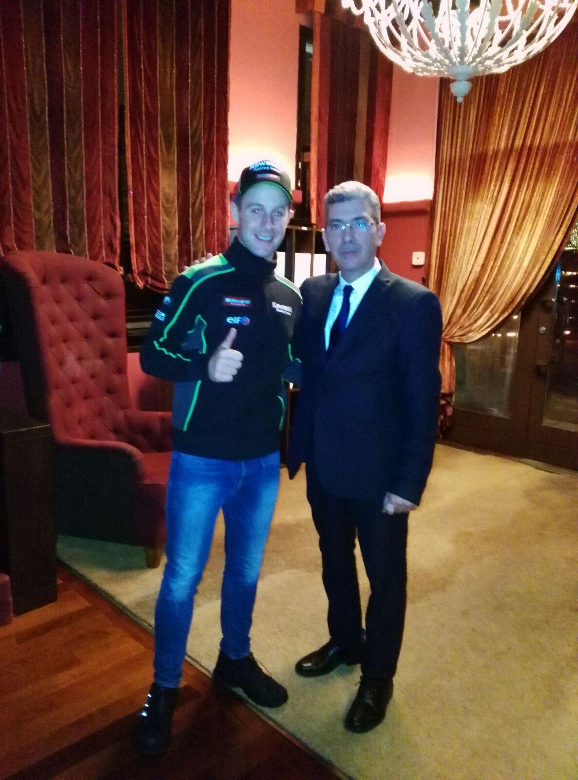 Jonathan Rea en El Xalet de Montjuïc